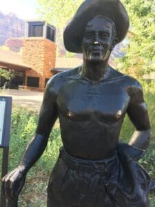 Statue in Zion National Park